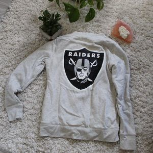 PINK VS OAKLAND RAIDERS SHERPA LINED ZIP UP